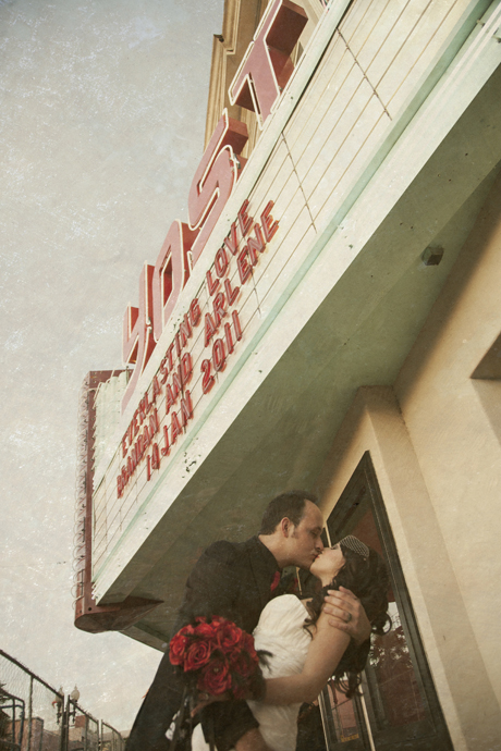 Wedding in Movie Theater