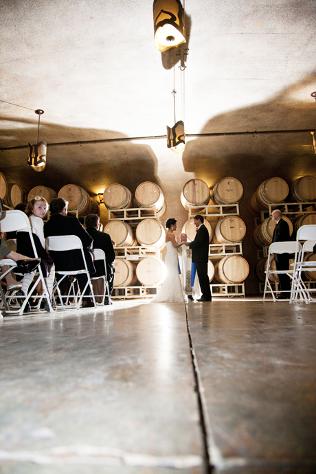 Wine Cellar Wedding Ceremony