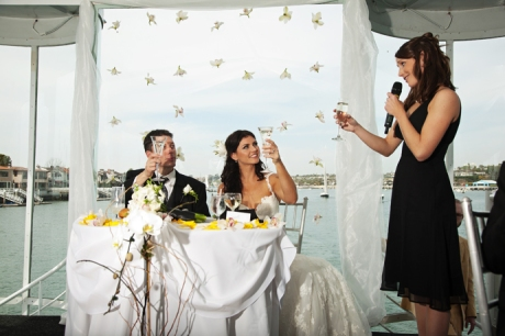 Maid of Honor Toast on Electra Cruise Yacht
