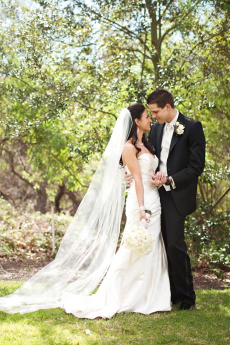 Bride and Groom at William R. Mason Park in Irvine