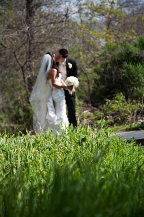 Bride and Groom at William R. Mason Park in Irvine