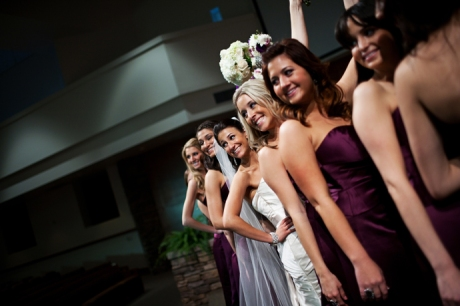 Bride and Bride's Maids at Voyager Bible Church
