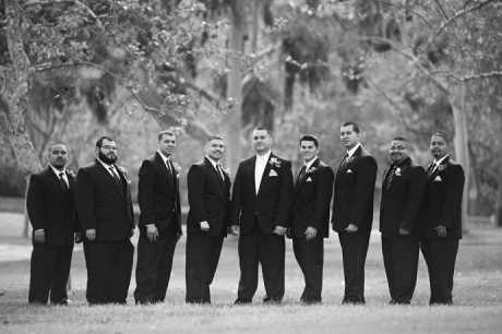 Groom and Guys at Carbon Canyon Regional Park