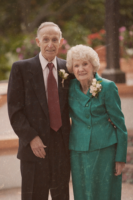 Groom's Grandparents at Rancho Las Lomas