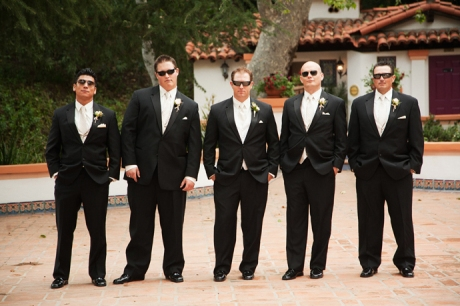 Groom and Groom's Men at Rancho Las Lomas