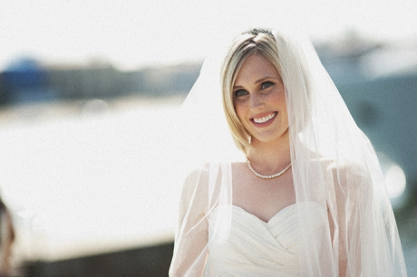 Bride at Balboa Bay Club Wedding