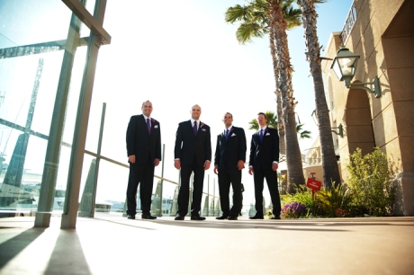 Groom and Guys at Balboa Bay Club