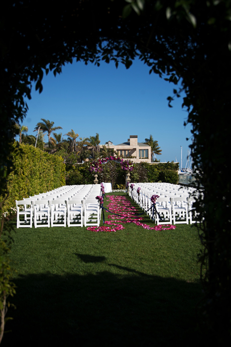 Wedding Ceremony at Balboa Bay Club