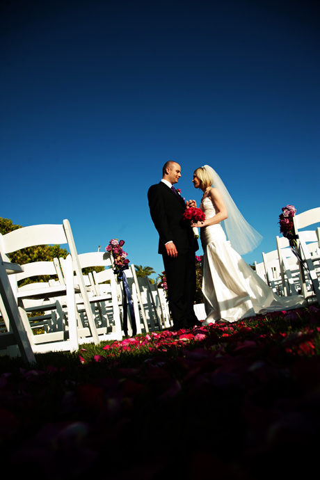 Bride and Groom at Balboa Bay Club