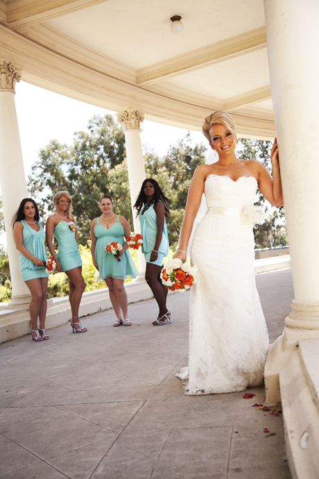 Bride and Girls at Balboa Park San Diego