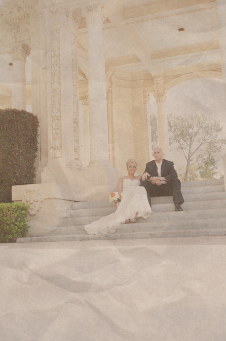 Bride and Groom at Balboa Park San Diego