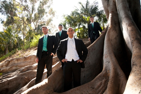 Groom and Guys at Balboa Park San Diego