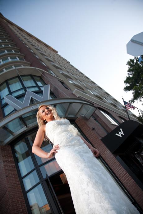 Bride at W Hotel San Diego
