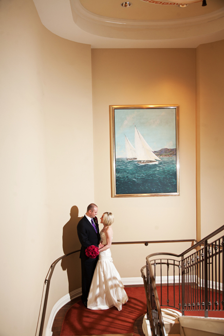 Bride and Groom at the Balboa Bay Club