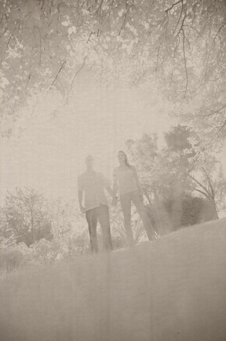 Infrared Engagement Pictures at Winery