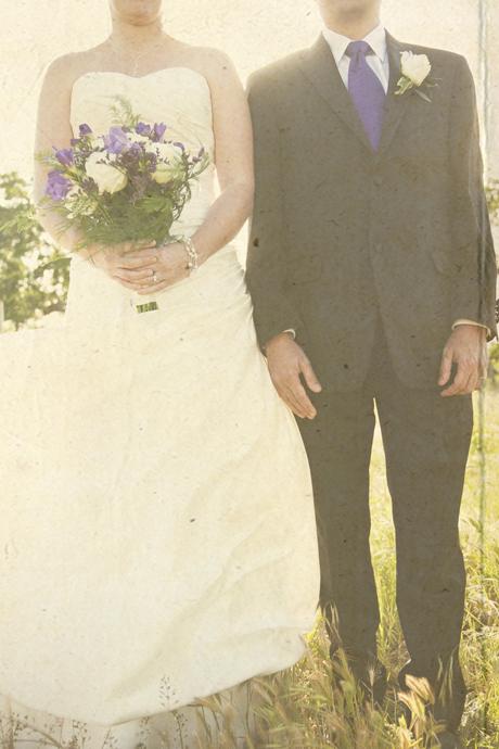Bride and Groom at Gainey Vineyard Wedding
