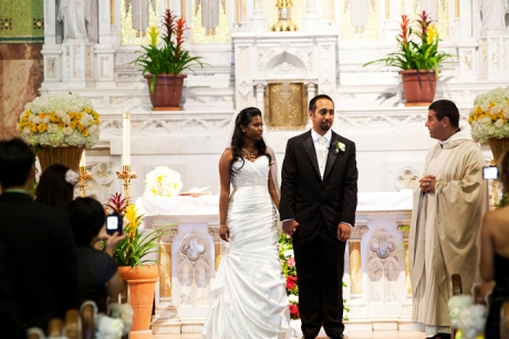 Catholic Wedding Ceremony in Long Beach