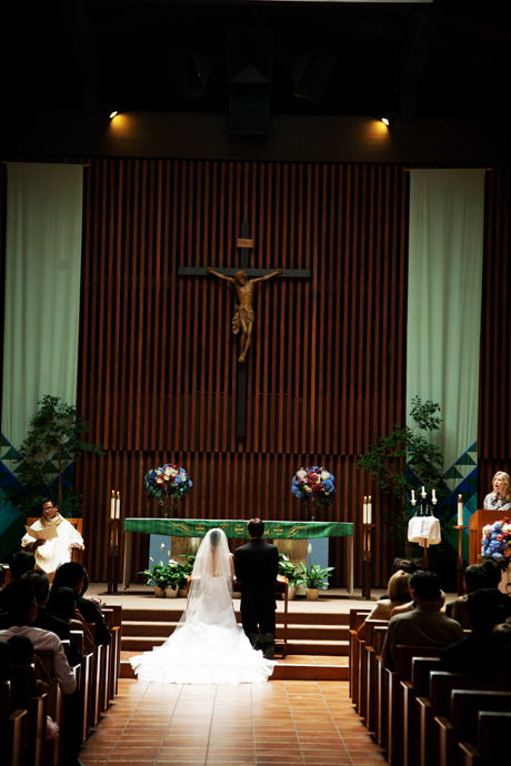 Wedding Ceremony at St. Nicholas Catholic Church