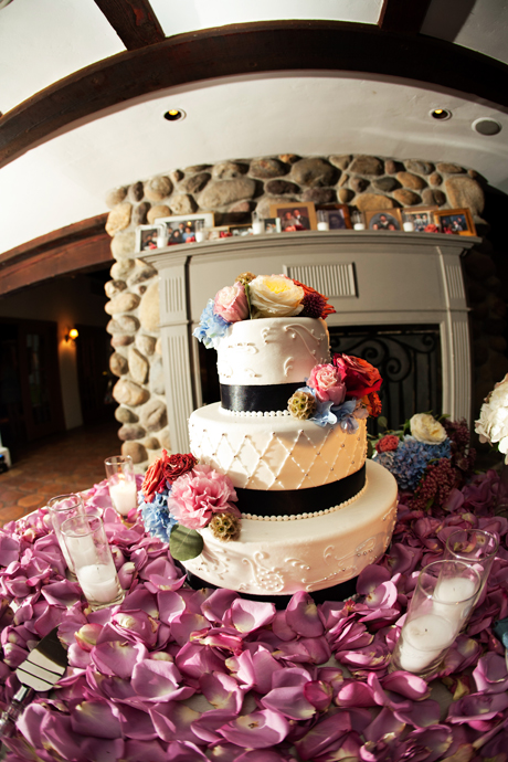Wedding Cake at Rancho Las Lomas