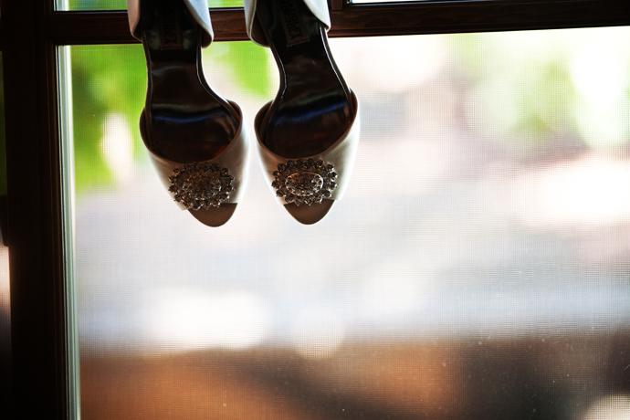 Bride's Shoes at the Hotel Corque