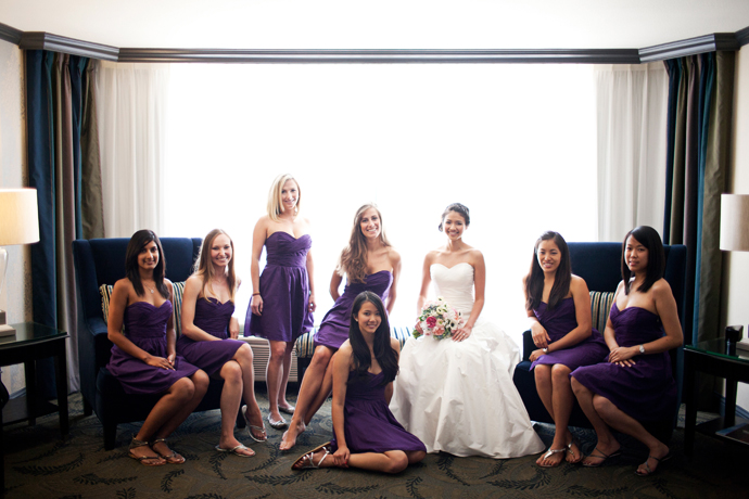 Bride and Girls at the Hotel Hanford