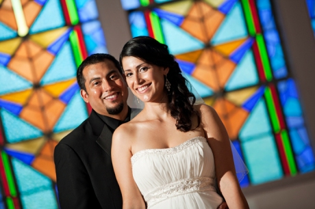 Bride and Groom at Santa Clara Chapel