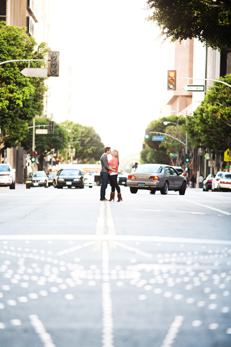 Downtowon Los Angeles Engagement Pictures