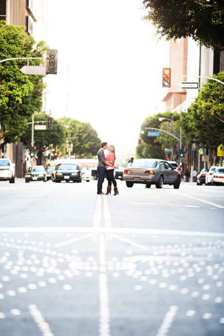 Downtowon Los Angeles Engagement Pictures