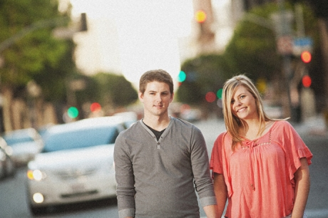 Downtown Los Angeles Engagement Pictures