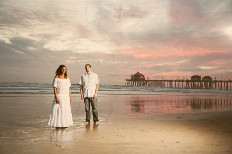 Engagement Pictures at Huntington Beach Pier