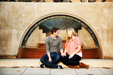Engagement Pictures Los Angeles Library