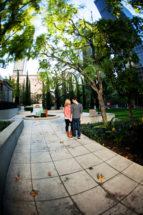 Engagement Photography Los Angeles Library