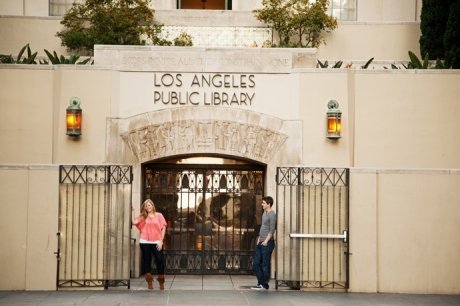 Engagement Pictures at Los Angeles Central Library