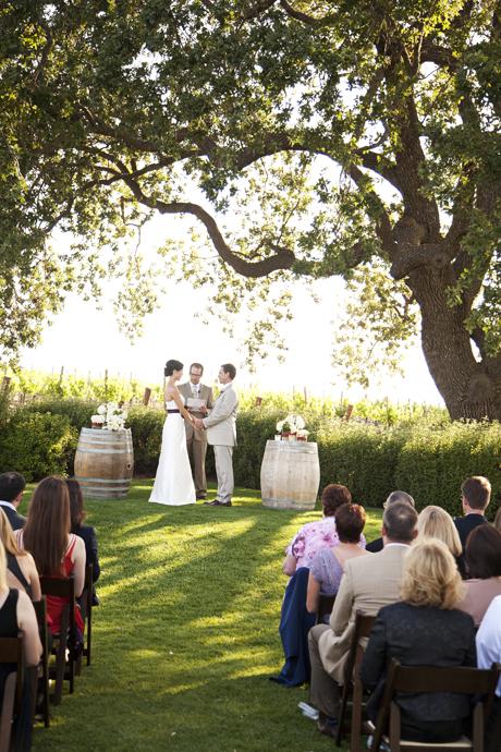 Gainey Vineyard Wedding Ceremony