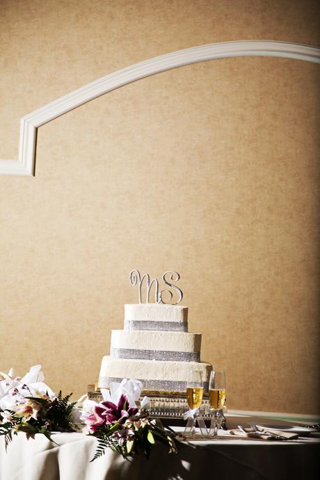 Wedding Cake at Pacific Hills Banquet Center