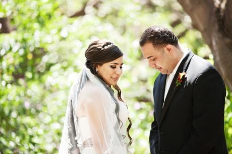 Bride and Groom Fullerton Arboretum
