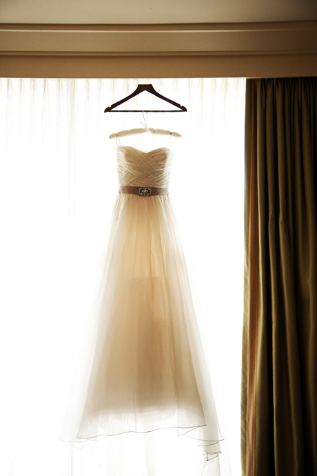 Wedding Dress at the Shady Island Hotel Newport Beach
