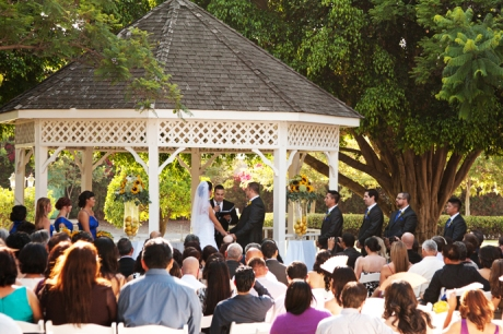 Heritage Museum of Orange County Wedding Ceremony