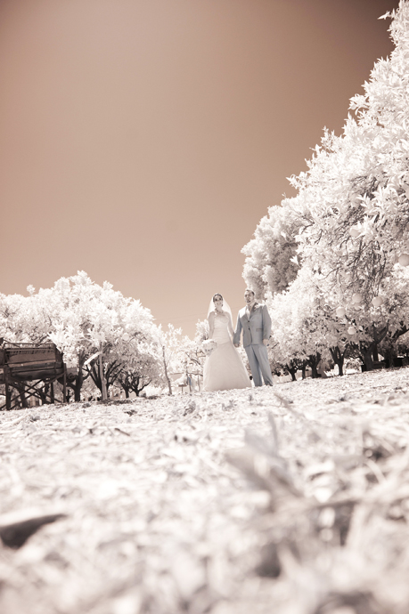 Infrared Wedding Photography at the Heritage Museum of Orange County