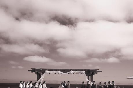 Infrared Photography at Terranea Resort Wedding