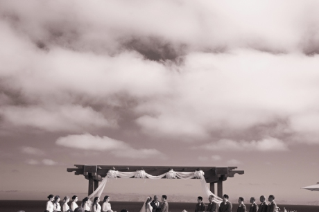 Infrared Photography at Terranea Resort Wedding