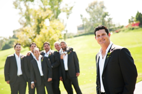 Groom and Guys at Mission Viejo Country Club Wedding
