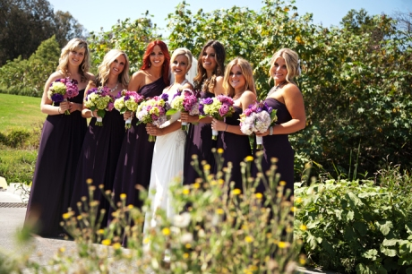 Bride and Girls at Mission Viejo Country Club Wedding