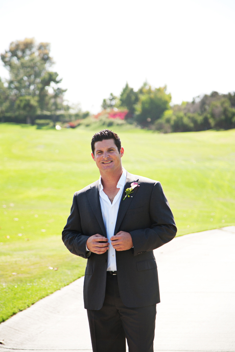 Groom at Mission Viejo Country Club Wedding