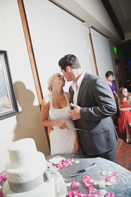 Cake Cutting at Mission Viejo Country Club Wedding