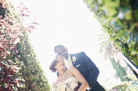 Bride and Groom at Alta Dena Golf Course Wedding