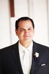 Groom at Rancho Las Lomas Wedding Ceremony