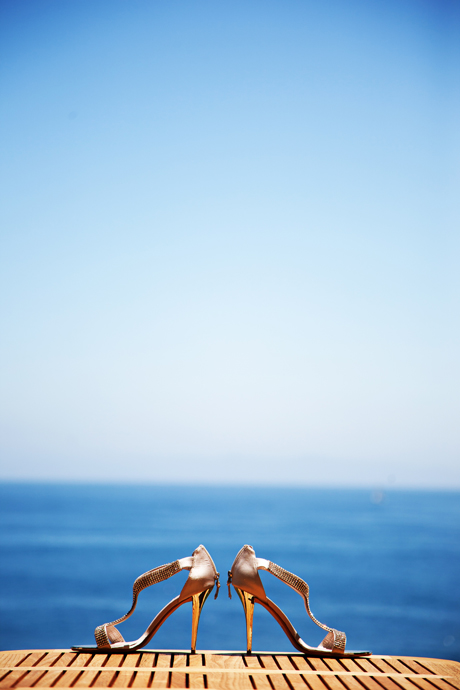 Bride's Shoes at Terranea Resort Wedding