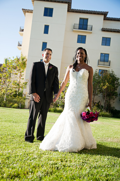 Bride and Groom at Terranea Resort Wedding