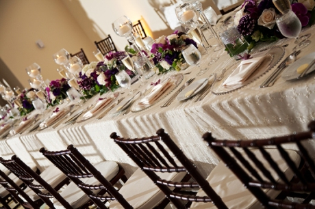 Details at Terranea Resort Wedding Reception